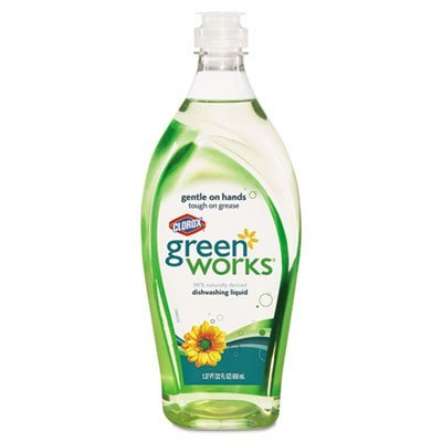 GreenWorks Natural Dishwashing Liquid Original, 22-Fluid Ounce Bottles (Pack of 12) by Greenworks by Greenworks