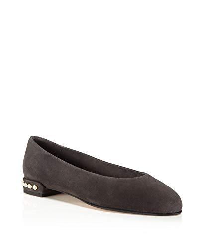 (Stuart Weitzman Womens Chicpearl Almond Toe Loafers, Slate Suede, Size 5.0)