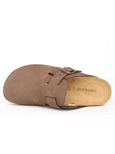 GRUNLAND - Sandalias de vestir para hombre Marron