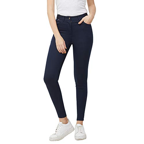 109 F Women's Blended Navy Solid Pant