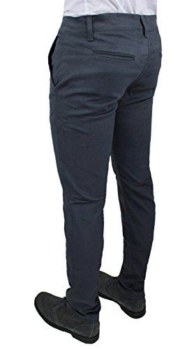 acquisto economico 6dd81 4be6e Pantaloni Uomo C. Battistini Jeans Grigio Scuro Sartoriale Slim Fit  Aderente Invernale Casual