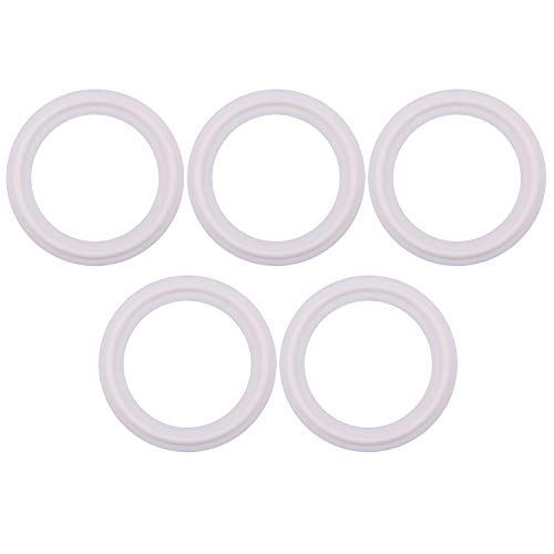 (Teflon (PTFE) Tri-Clamp Gasket -Tri Clover O-Ring- 1.5 inch, Fits to OD 50.5MM Sanitary Pipe Weld Ferrule (Pack of 5))