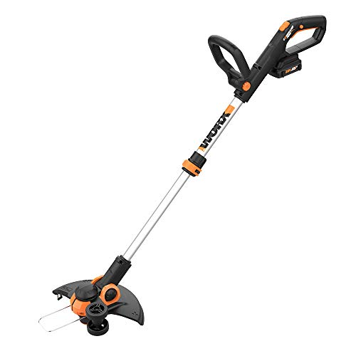 Worx WG163.4 20V Cordless 12 Grass Trimmer Edger with Command Feed 3 20V Batteries, and 2-hr Dual Charger included