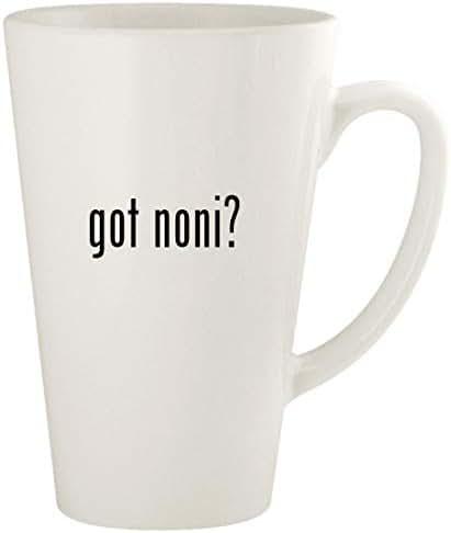 got noni? - 17oz Ceramic Latte Coffee Mug Cup, White