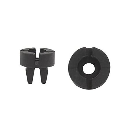 eDealMax 100 piezas de plástico Sujetador del remache moldura de la puerta del Panel de retención