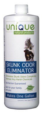 Unique Natural Products Skunk Odor Eliminator, 32-Ounce (The Best Skunk Odor Removal)