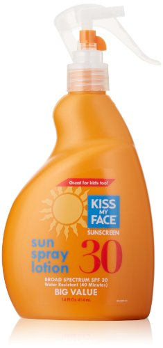 Kiss My Face Sun Лосьон-спрей солнцезащитный крем SPF 30, 14 жидкую унцию