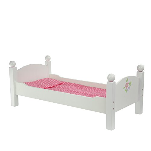 Olivia's Little World - Princess Double Bunk Bed (White)   Wooden 18 inch Doll Furniture