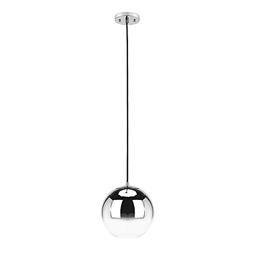 (Catalina Lighting Modern 19966-000 Olivia 9-inch Chrome Ombre Glass Orb Pendant,)