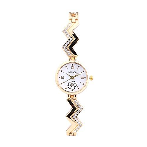 Trendy Multi-Color Cool Watch,2019 Women Watch Modern Classic Leather Bracelet Alloy Style Exquisite Decoration Dial Round Fashion Elegant Quartz Business Simple Leisure Clear Waterproof