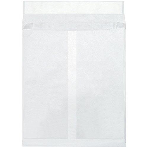 Quality Park TYE12162WE Tyvek Olefin Expandable Envelope, 16'' Length x 12'' Width x 2'' Height, White (Case of 100) by Tyvek