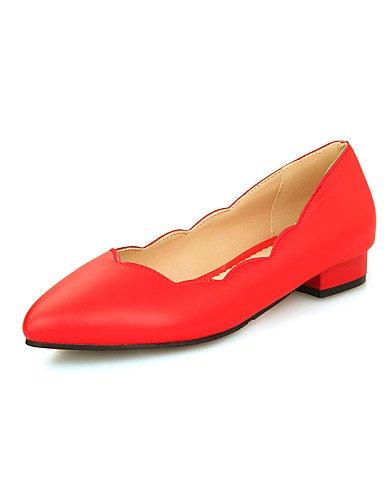 talón libre Toe al piel azul rojo PDX casual mujer cn46 aire punta blanco y carrera de us12 blue sintética zapatos Pisos eu44 negro plano uk10 oficina de HOPnzYxn