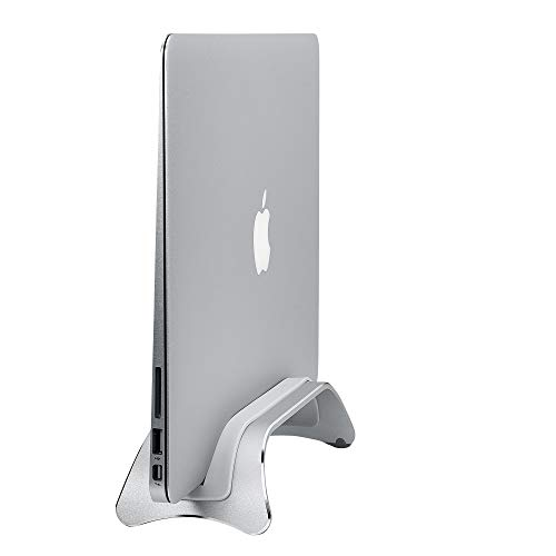 AVLT-Power Aluminum Vertical Laptop Stand and Desk Organizer - Compatible with Apple MacBook Pro 2015 & Newer, iPad, Tablet, Laptop, Ultrabook - Docking Station for Up To 0.39 Inch Thick (Tapered End)