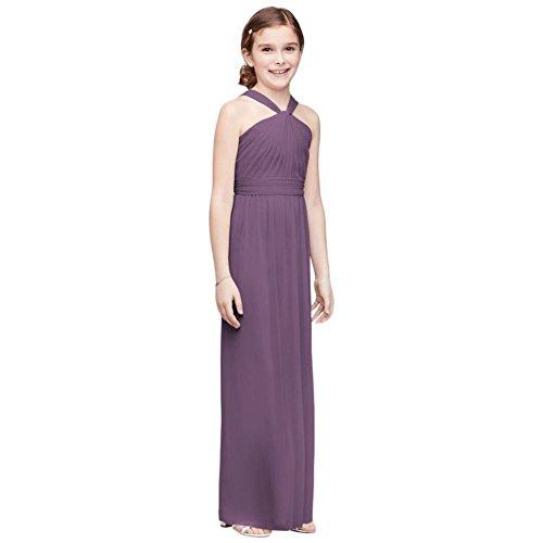 David's Bridal Y-Neck Long Mesh Girls Dress Style JB9597, Wisteria, 16 by David's Bridal