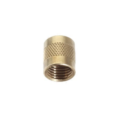 C&D Valve CD2245 1/4 flare cap, round brass w/ neoprene o-ring seal (pack of 25 (Hvac Cap)