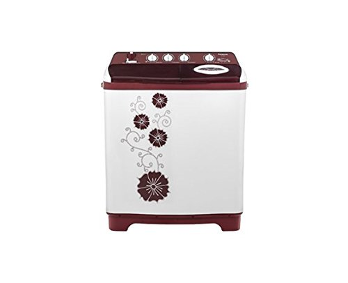 Panasonic 7 kg Semi-Automatic Top Loading Washing Machine (NA-W70G4RRB, Red)