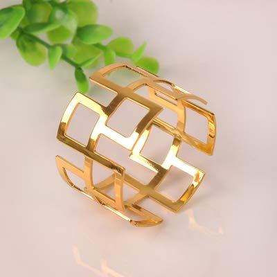 LooBooShop 4 X Great Wall Napkin Ring Hotel Dinner Napkin Holder Wedding Party Deco Supply Gold/Silver Napkin Buckle