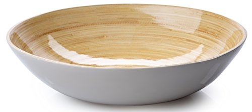 Bowl For Dining (Soup, Cereal, Salad), Wide Shape Light Grey, 1-Piece ()
