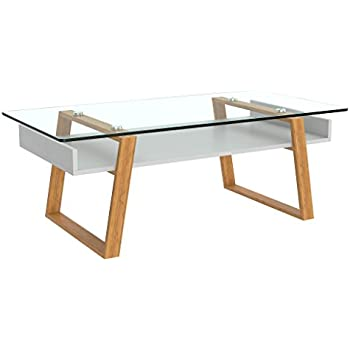 Bon BonVIVO Designer Coffee Table Donatella, Modern Coffee Table For Living Room,  White Coffee Table