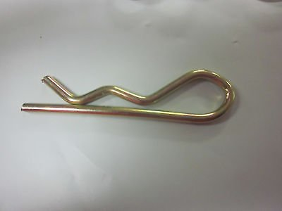 ~ 50~2 X 3/32 HAIR R HITCH PIN CLIP SPRING COTTER TRACTOR PINS GOLD PLATE from GOLIATH INDUSTRIAL TOOL