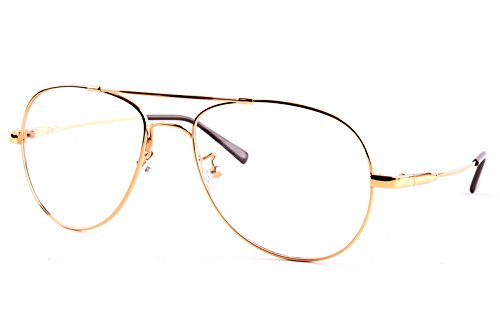 Agstum Large Aviator Full-flex Optical Memory Titanium Eyeglasses Frame 56mm - Frames Eyeglass Memory