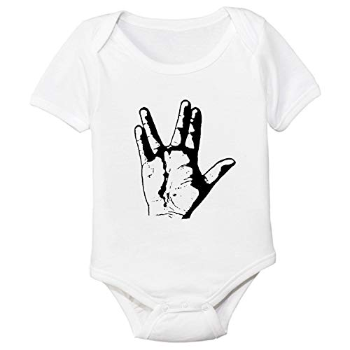 Star Trek Spock Vulcan Greeting Hand Sign Baby Bodysuit (6 (Star Trek Cloths)