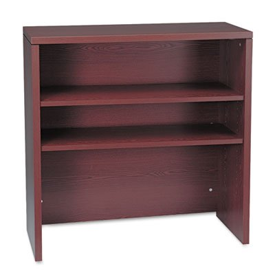 Hon 10500 Stack - HON® - 10500 Series Bookcase Hutch, 36w x 14-5/8d x 37-1/8h, Mahogany - Sold As 1 Each - Durable abrasion- and stain- resistant laminate.