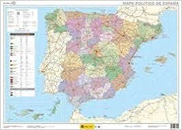 Mapa mural España político 1:2.250.000 70x50 IGN/CNIG: Amazon.es: VV.AA.: Libros