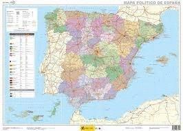 Mapa mural España político 1:2.250.000 70x50 IGN/CNIG: Amazon.es ...