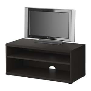 IKEA MOSJO - Mueble TV, negro-marrón - 90x40x38 cm