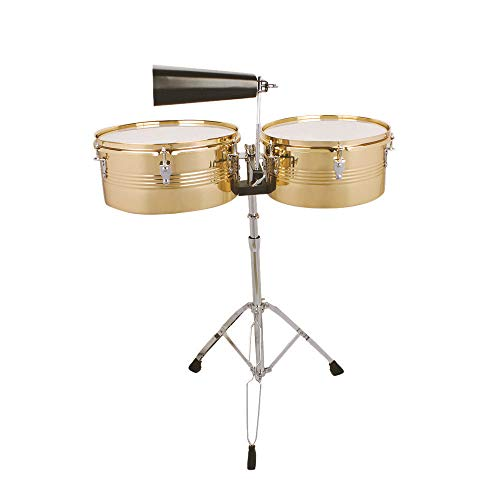 Timbale Drums Sets Golden Percussion Musician Musical Instrument & Gear Folk & World Drum Bandsman Apparatus Equipment Tool Accessories Homegrown Native Latin Band Team For Professional And Amateur from Lek Store