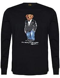 Men Long Sleeve Pony Logo T-Shirt