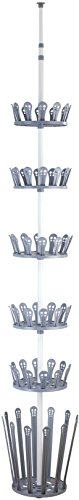Revolving Coat Rack - WENKO 6200090100 Telescopic Shoe and Boot Rack Achilles, Metal White, Ø: 30 x 100-300 cm