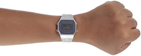 Casio A168WEM-1 Men's Youth Collection Mirror Dial Alarm Chronograph Illuminator Digital Watch