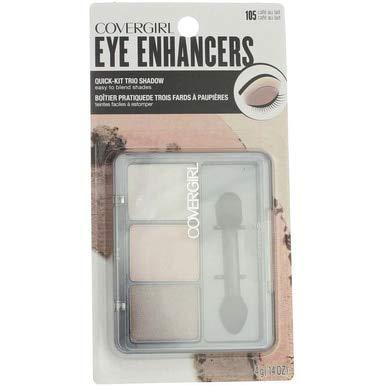 Cg Eyeshadow 105 Trio Caf Size Ea Cover Girl Eye Enhancers Quick-Kit-Trio Shadow 105 Cafe Au Lait .17 ()