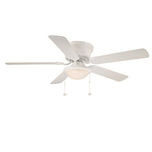 Hugger 52 in. LED White Ceiling Fan-AL383LED-WH