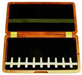 9-Reed Bassoon Reed Case Stained Wood