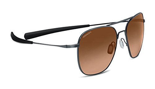 Serengeti Sunglasses Aerial Shiny Gunmetal Drivers (Racewear Sunglasses)