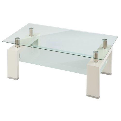 【完成品】 センターテーブル コレクション ガラス天板 ローテーブル ディスプレイ 〔ホワイト〕 B0171FWG6W 完成品|ホワイト ホワイト 完成品