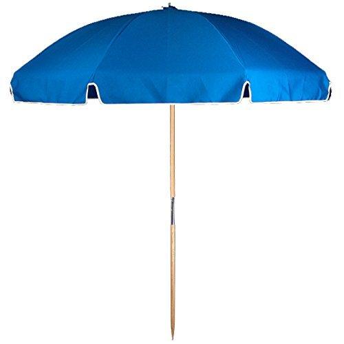 7.5 ft. Avalon Collection Fiberglass Commercial Grade Beach Umbrella with Ash Wood Pole & Acrylic Fabric (Acrylic Umbrella)