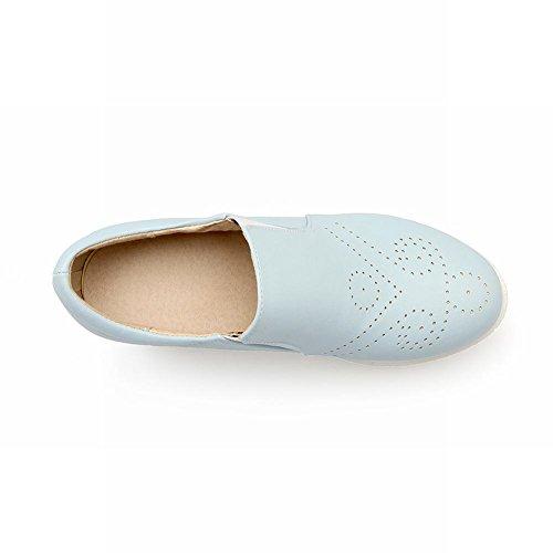 Mee Shoes Damen bequem hidden heel Durchgängiges Plateau Blau