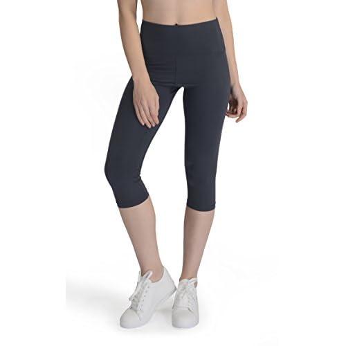 a42ef786008 Yunoga Women s Yoga Capris Pants - Workout Leggings With High Waist    Pockets