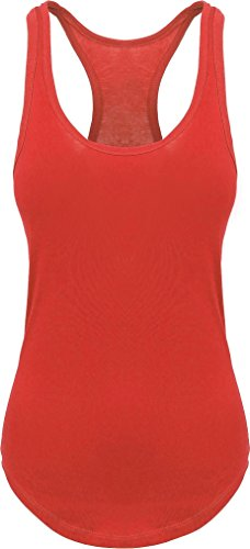 Ma Croix Women's Racer Back Tank Top 3HCA0001 (Medium/3hc01_red)