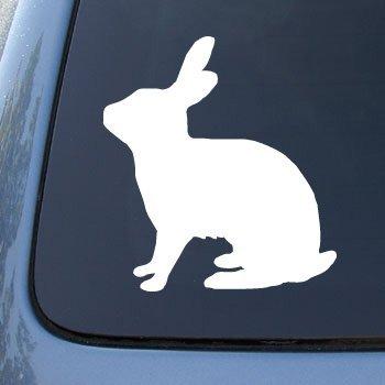 RABBIT SILHOUETTE - Bunny - Vinyl Car Decal Sticker #1548 | Vinyl Color: White