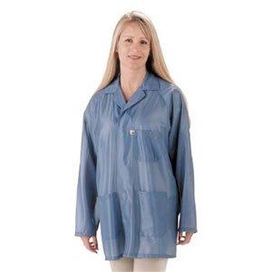 Tech Wear Lab Jacket, Lapel Collar, Small, Waist Lgth, ESD