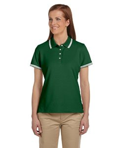 (Chestnut Hill Women's Tipped Performance Plus Pique Polo Shirt)