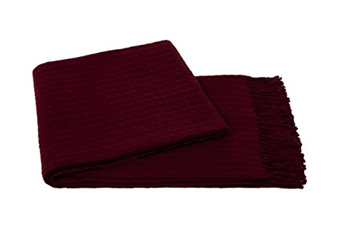 a & R Cashmere W100MER Waffle weave Throw, (Cashmere Waffle)