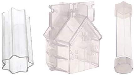 3個 キャンドルモールド キャンドル金型 抜き型 プラスチックモールド DIY 工芸品 盛り合わせ