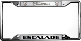 Cadillac Escalade License Plate Frame