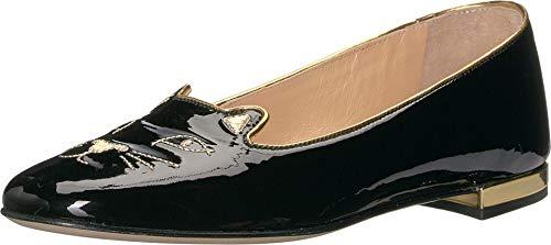 charlotte olympia Soft Kitty Flats Black Patent 38 (US Women's 8)